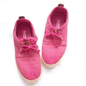 Timberland Earthkeepers Hookset Pink Boat Shoes 9